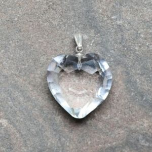 Crystal Quartz and Silver Pendant